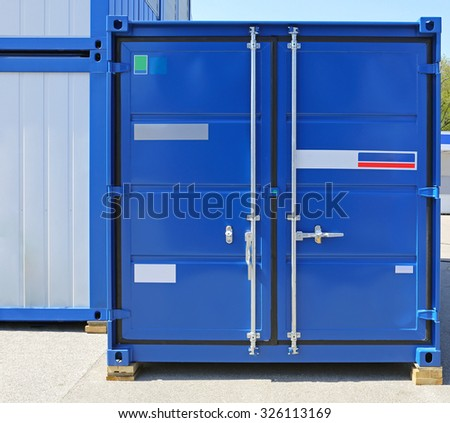 Blue Cargo Container Ready for Shipping