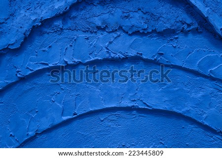 Blue cement texture background - stock photo