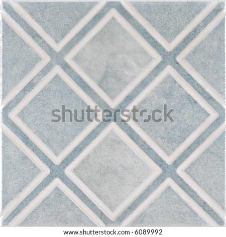 Blue ceramic tile - stock photo