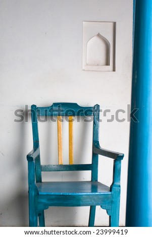 Blue Chair - stock photo