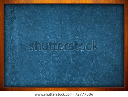 blue chalkboard - stock photo