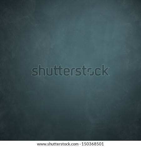 Blue Chalkboard texture background with copy space - stock photo