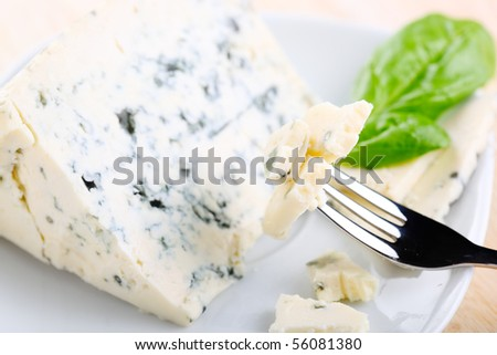 blue cheese close up - stock photo