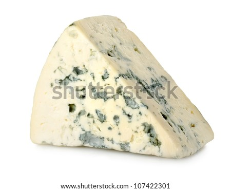 Blue cheese isolated - stock photo