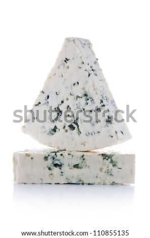 Blue Cheese Portions - stock photo
