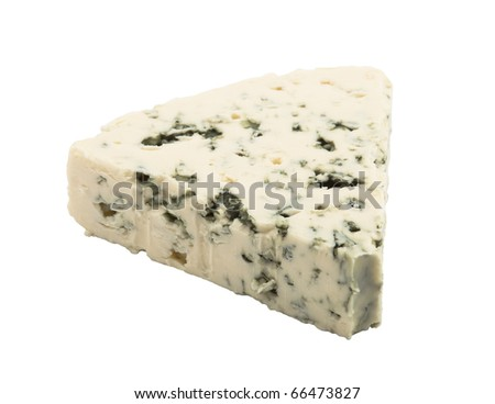 Blue cheese with clipping path - stock photo