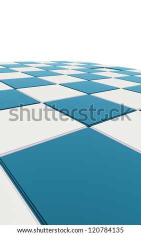 Blue chessboard concept - stock photo