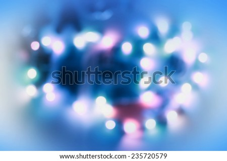 Blue Christmas background - stock photo