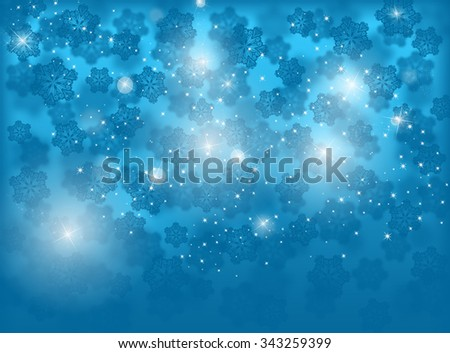 Blue Christmas background. Winter holiday. New year background  - stock photo