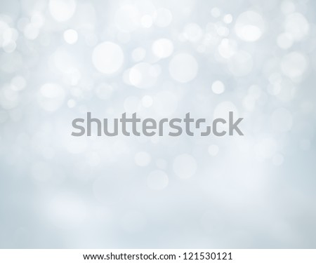 Blue christmas background with bokeh lights - stock photo