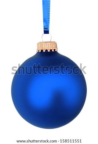blue Christmas ball - stock photo