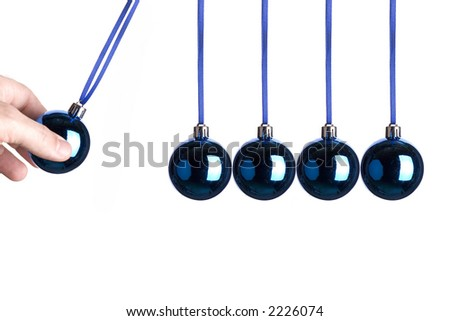 Blue Christmas bulb concept photo - stock photo