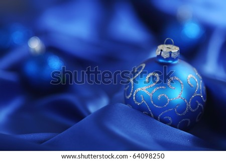 blue christmas card - stock photo