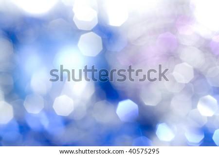 blue christmas light background - stock photo