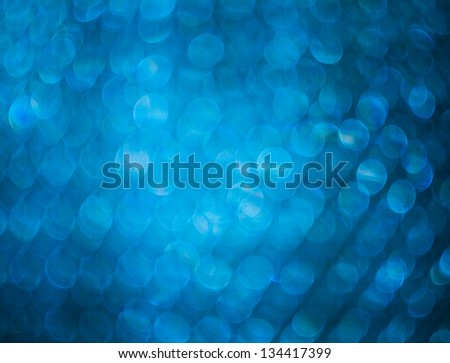 Blue Christmas Lights Out Of Focus - stock photo