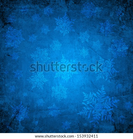 Blue christmas paper background - stock photo