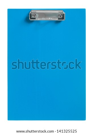 blue cipboard isolated on white - stock photo