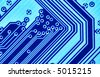 Blue circuit board macro, may be used as background - stock photo