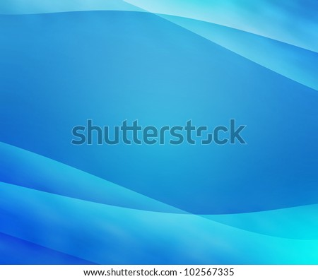 Blue Clean Abstract Background - stock photo