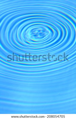 Blue clear water round ripples center background