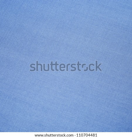 blue cloth texture background, book cover - stock photo
