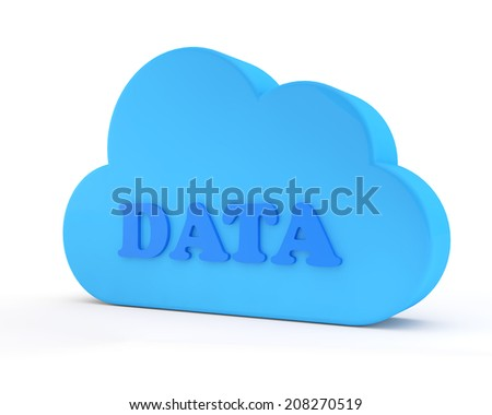 blue cloud of storage of information - stock photo