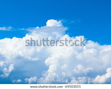 Blue Clouds Sunshine - stock photo