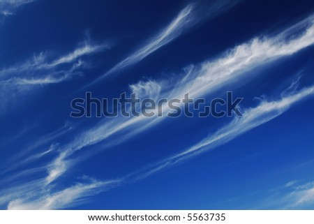 Blue cloudscape - stock photo