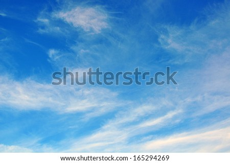Blue cloudy sky - stock photo