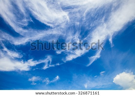 blue cloudy sky background - stock photo