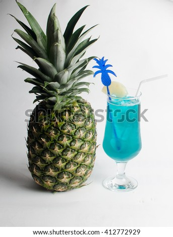 Blue coctail  - stock photo