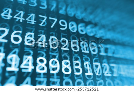 Blue coding programming source code screen. Colorful abstract data display. Software developer web program script. Bits program script background. - stock photo