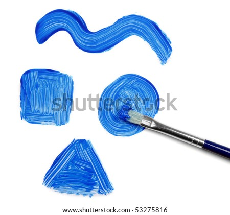 Blue Color and brush