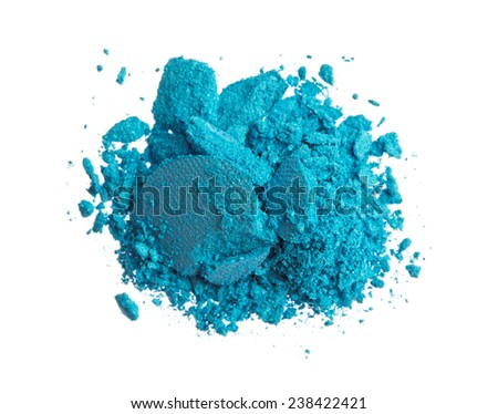 Blue color eyeshadow - stock photo