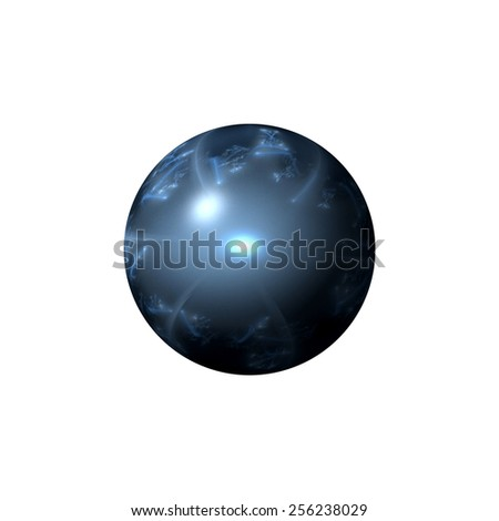 Blue color globe on white background. - stock photo