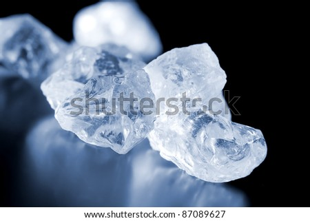 blue colored glass crystals, See my portfolio for more - stock photo