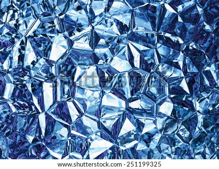 blue colored relief crystal backgrounds - stock photo