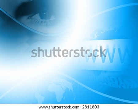 Blue colored www background. - stock photo