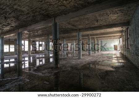 Blue Columns - stock photo