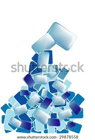 blue combination cube, background