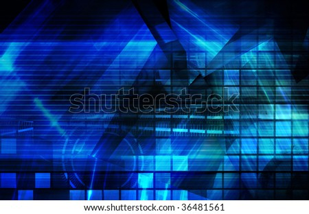 Blue Corporate Presentation Art As a Background