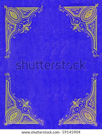 Blue cover background - stock photo