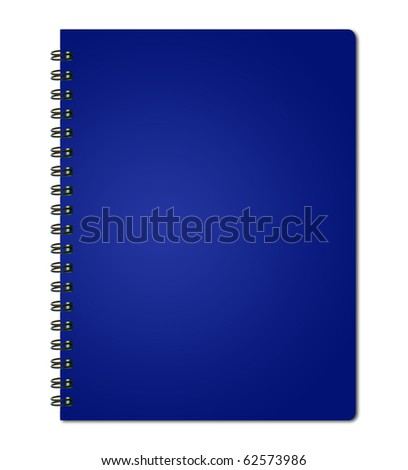 Blue cover of notebook. - stock photo