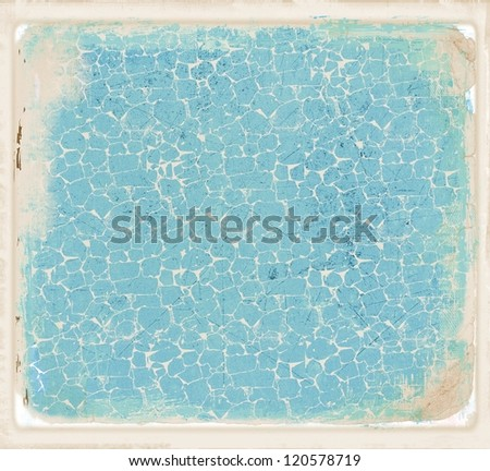 Blue cracked texture or background - stock photo