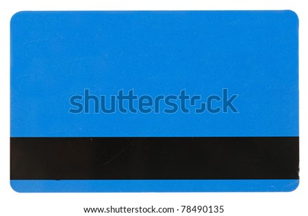 blue credit card isolated over the white background - stock photo
