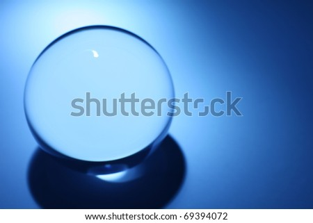 Blue Crystal Ball for background - stock photo