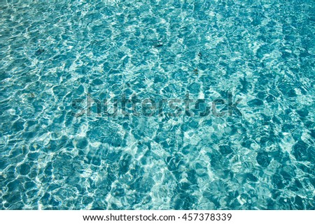 Blue Crystal clear water of the tropical sea