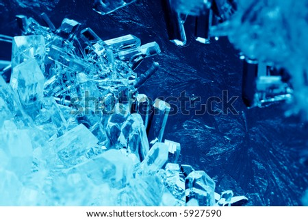 Blue crystals close-up - stock photo