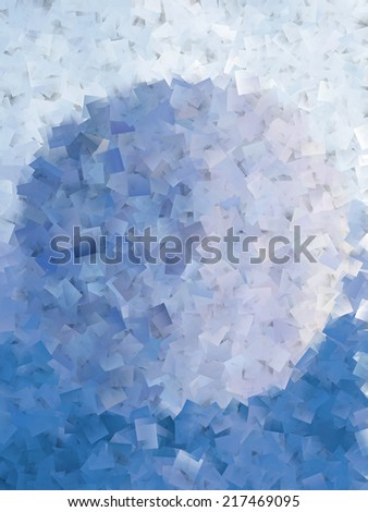 Blue cubism Abstract - stock photo