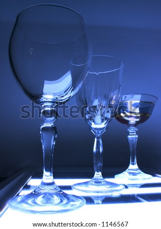 blue cup - stock photo